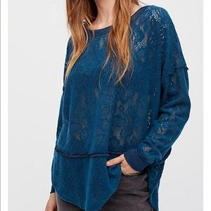 Free People | Not Cold In This Lace Top
